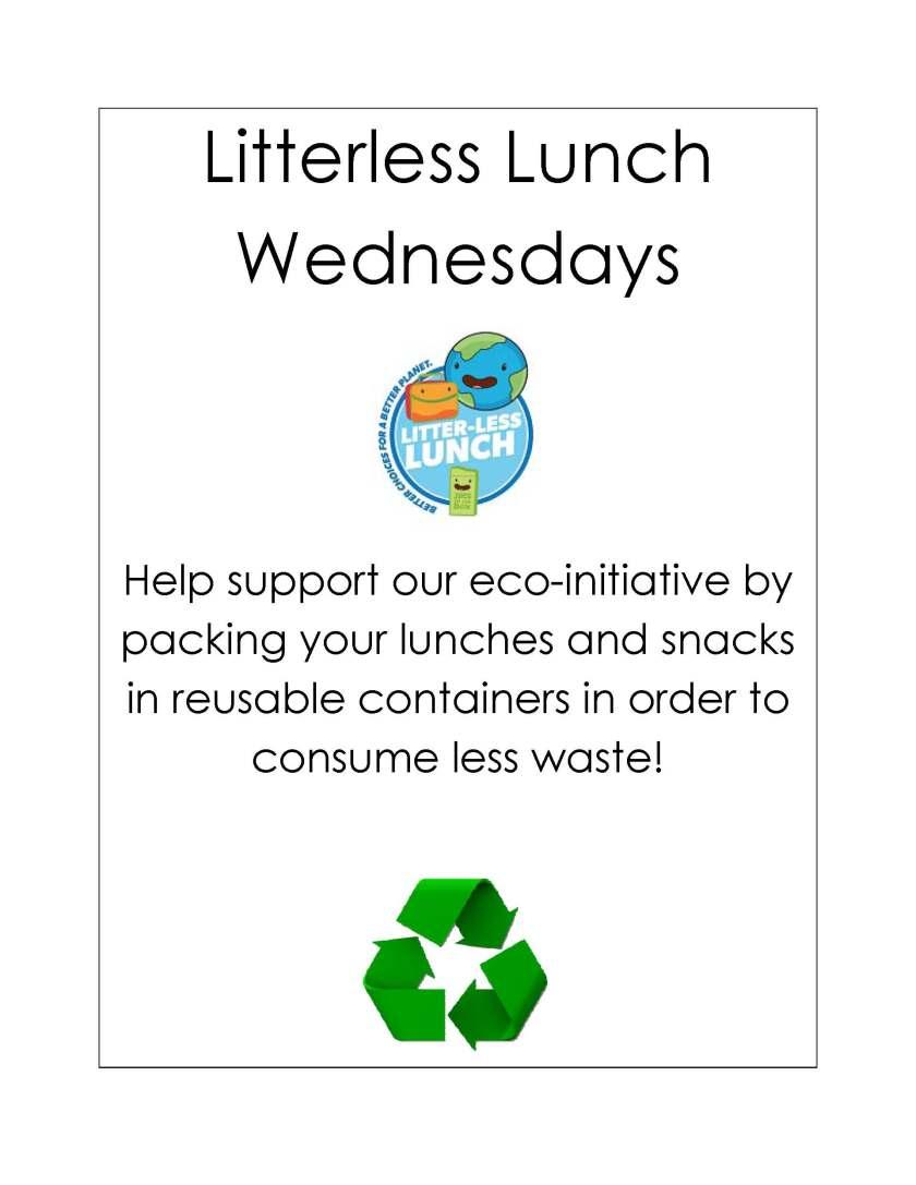 Litterless Lunch Wednesdays