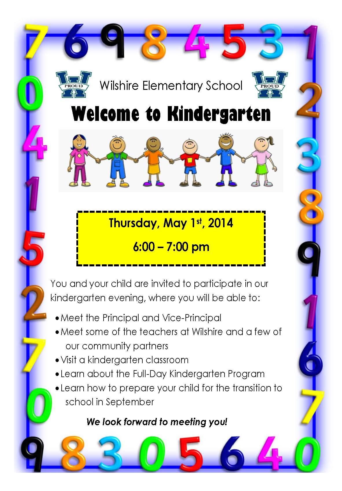 Welcome to Kindergarten Night | Wilshire Elementary School