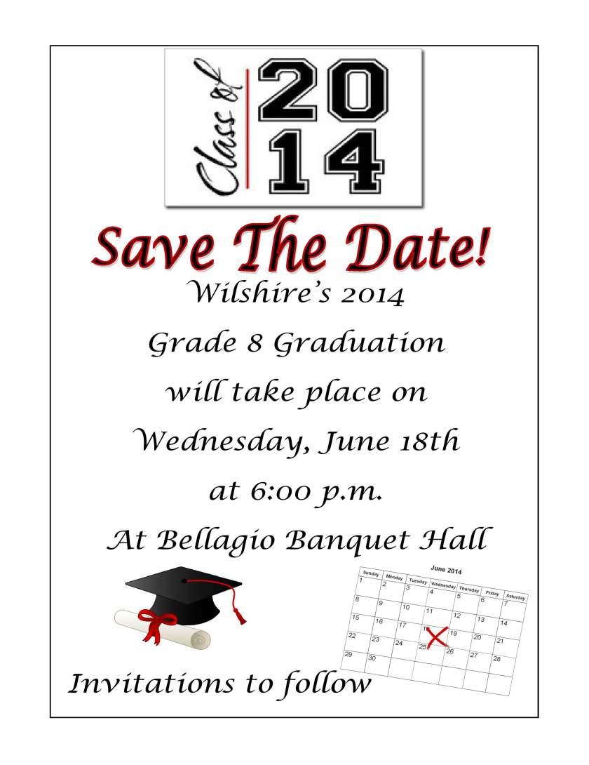 Save the Date_Grade 8 Graduation