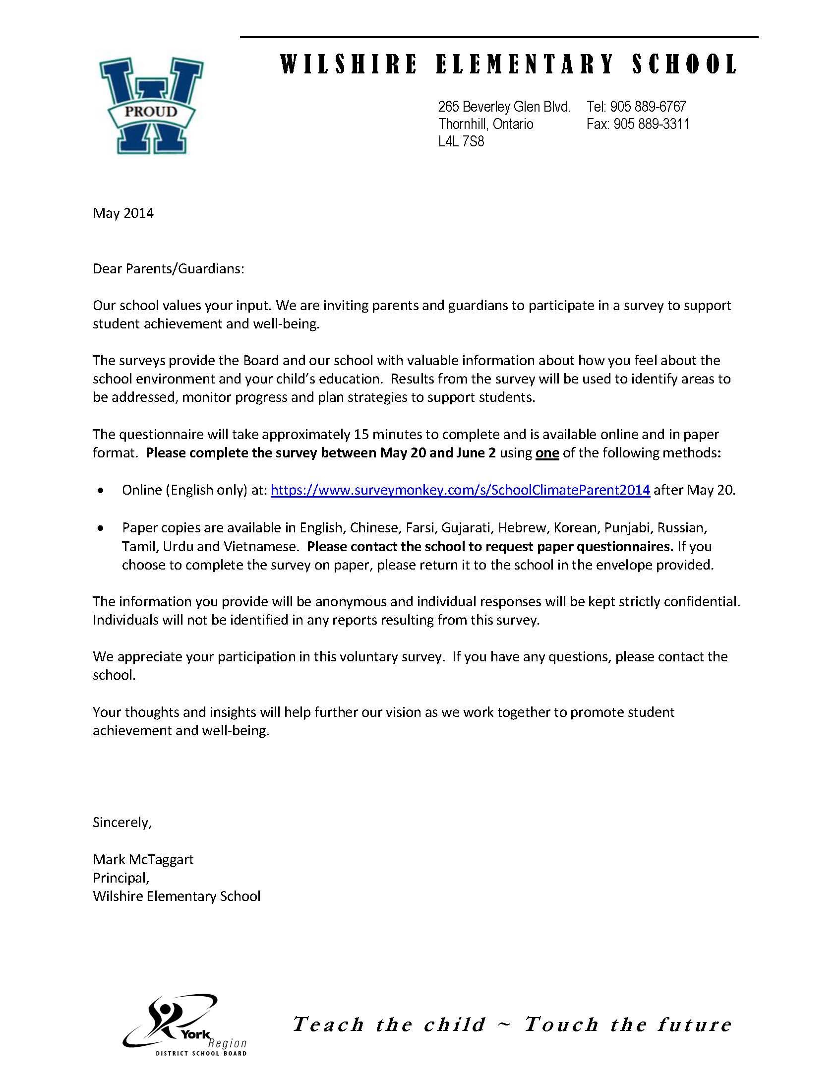 Parent Letter Teacher Change