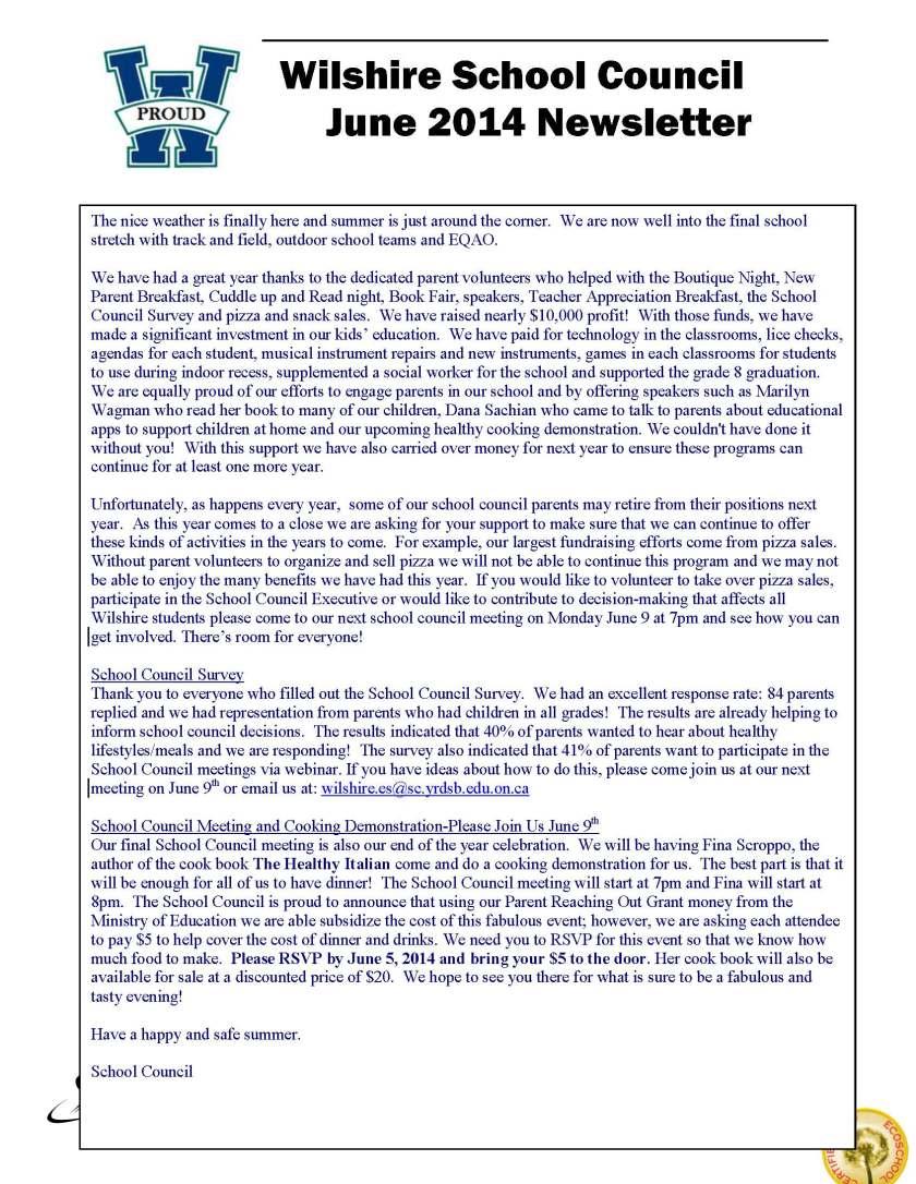 June 2014 Newsletter Final