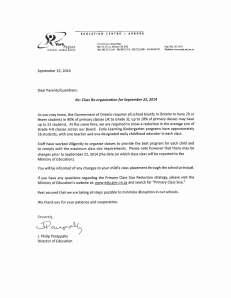Director Letter re Class Re-organization