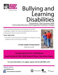 Bullying and Learning Disabilities