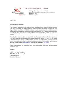 Letter to Parents re ETFO strike position - May 5, 2015