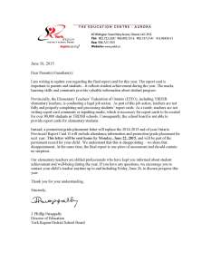 YRDSB Report Card Letter