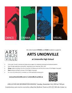 ARTS UNIONVILLE STRINGS  PIANO ELECTRONIC PROMO 2015