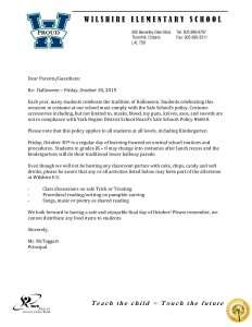 Wilshire Halloween Letter