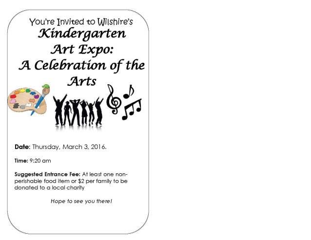 Art Expo Invitiation for Kindergarten