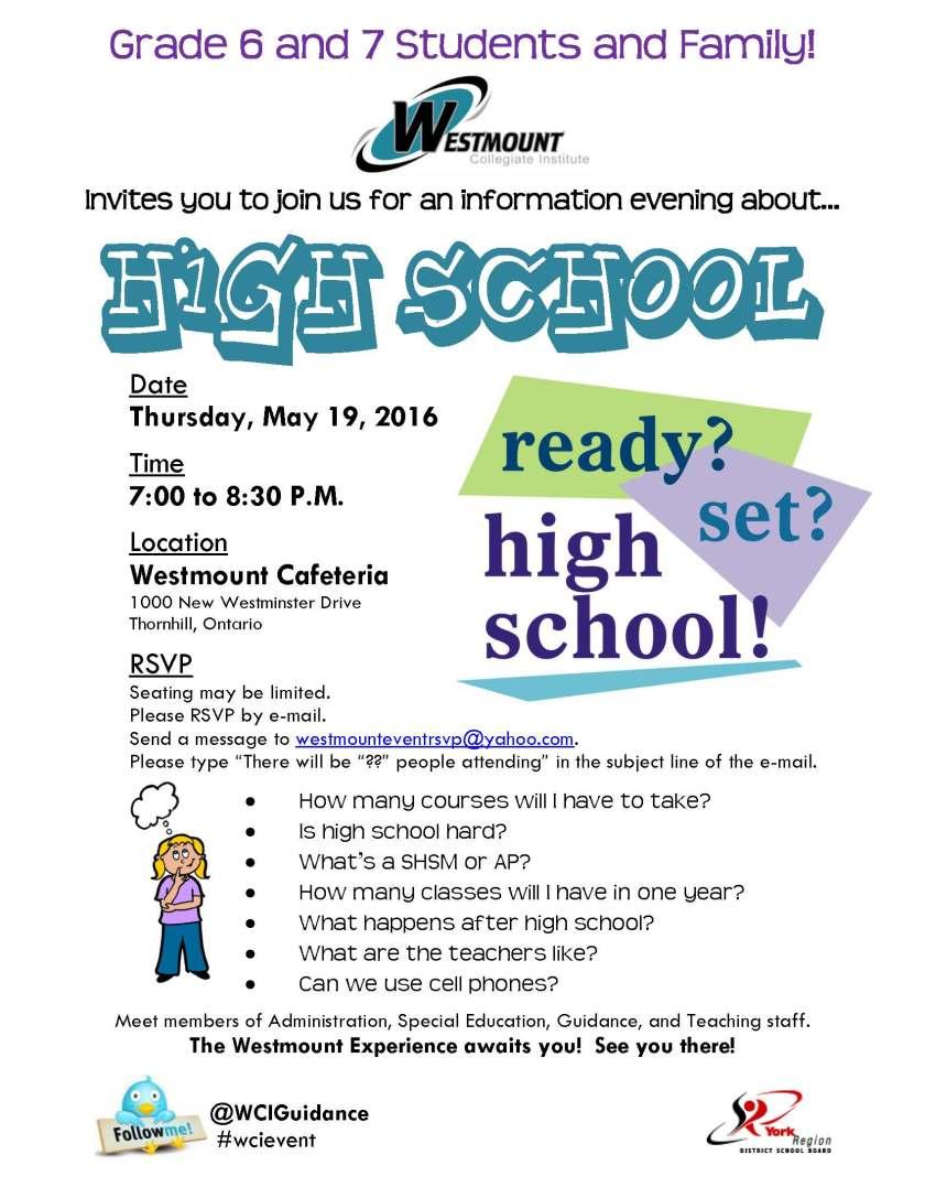 grade 6-7 info night