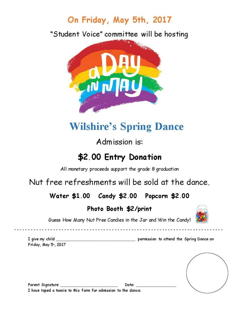 Spring Dance Permission Form (2017)