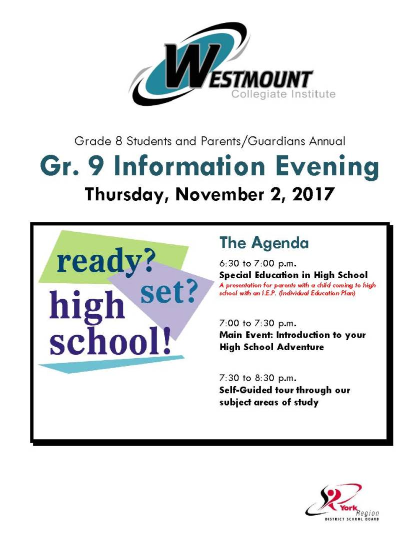 Gr. 9 Info. Night FLYER 2017 (002)
