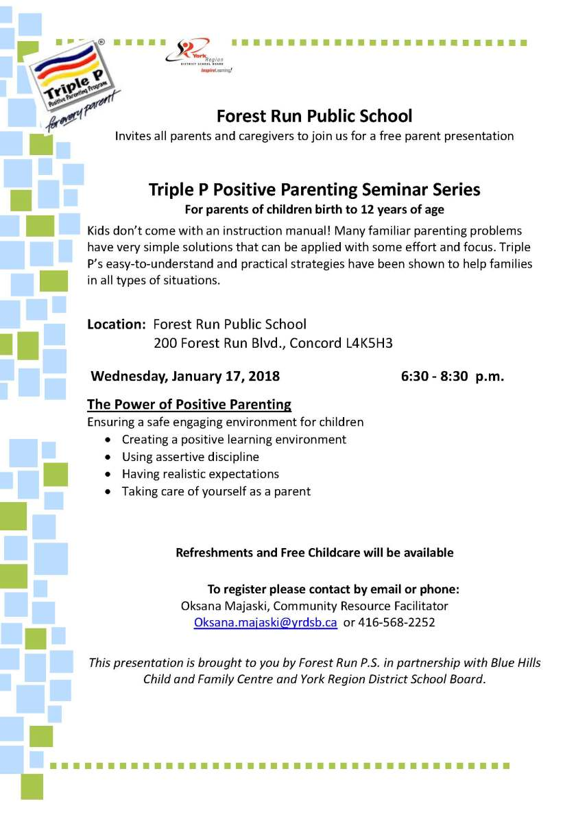 Power of Positive Parenting Jan 17 2018 @ Forest Run