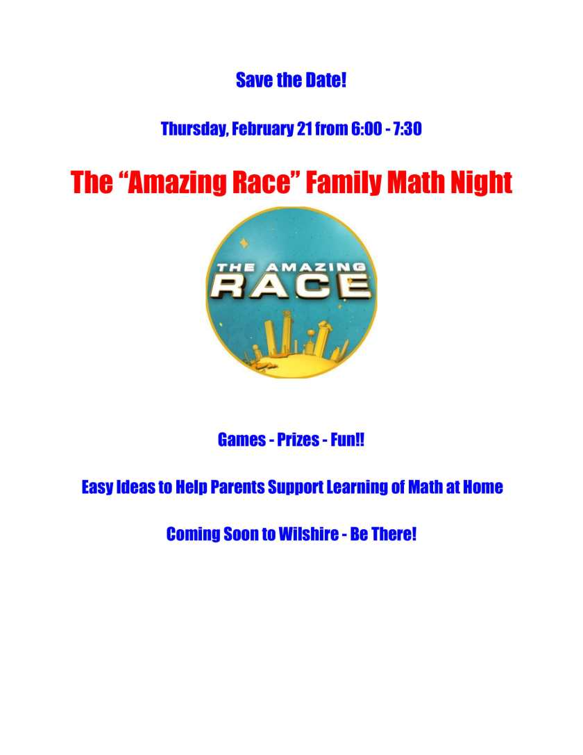 Family Math Night Ad-1