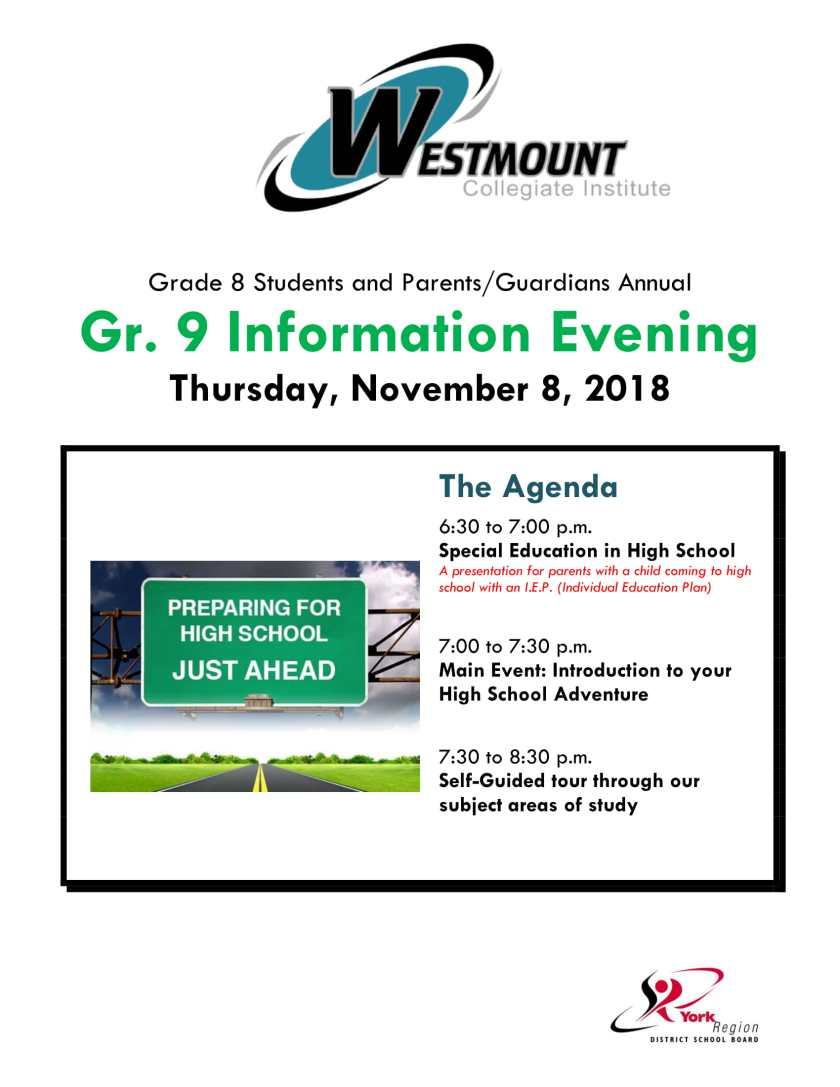 Gr. 9 Info. Night FLYER 2018-1