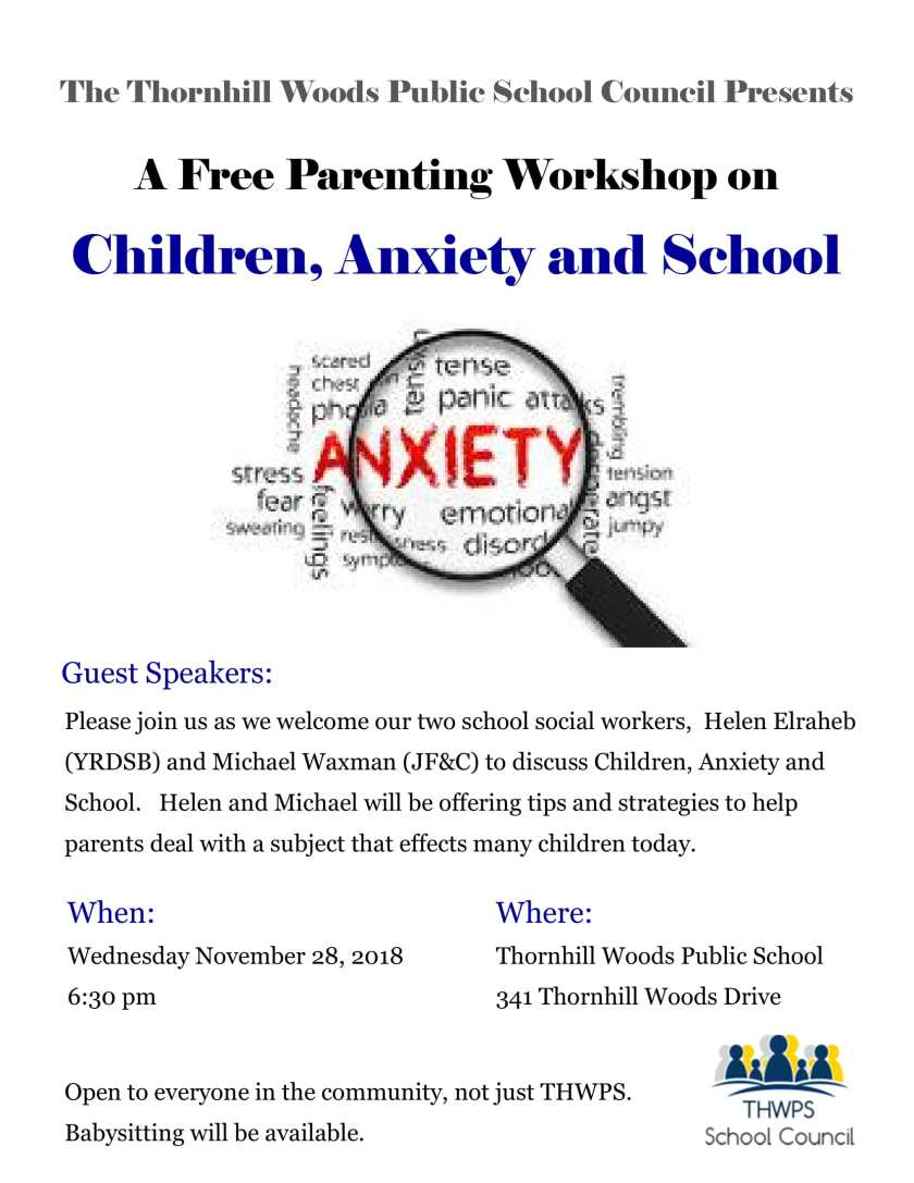 Parenting Workshop - Children Anxiety and School-1