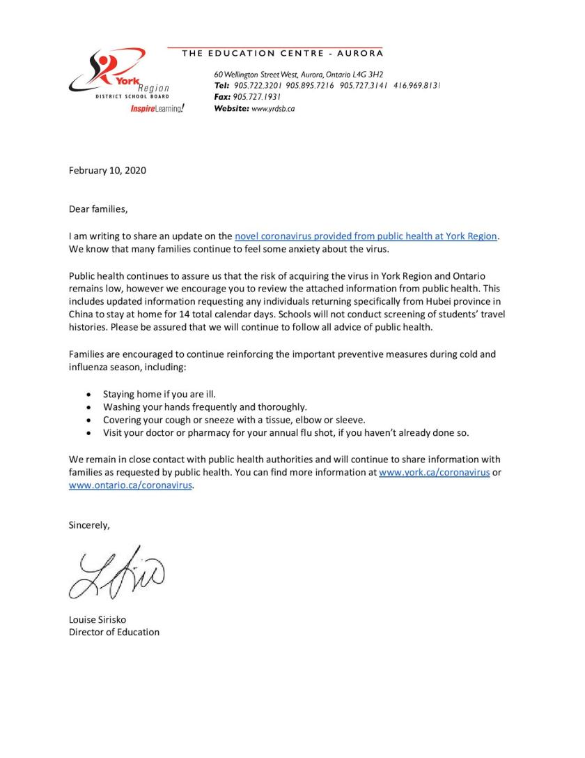 Letter to families - Coronavirus Update - February 10, 2020 (2)-page-001